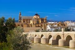 Brug in Cordoba Spanje Stock Foto's