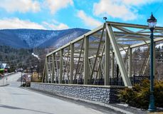 Brug in de Catskill-Bergen stock foto's