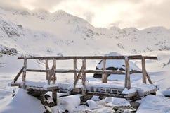 Brug in de sneeuw Royalty-vrije Stock Foto