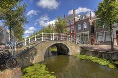Brug in Delft, Holland royalty-vrije stock foto's