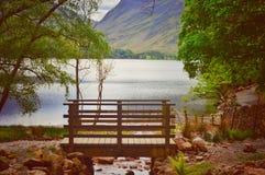 Brug door Buttermere Lake royalty-vrije stock foto