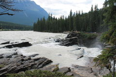 Brug en rivier Stock Foto