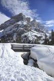 brug en sneeuw stock afbeeldingen