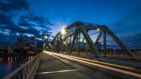 Brug en Stadshorizon van Portland, de V.S. stock afbeelding