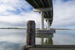 Brug en Werf in Goolwa, Hindmarsh-Eiland, Zuid-Australië Royalty-vrije Stock Foto