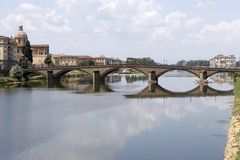 Brug in Florence Stock Afbeeldingen
