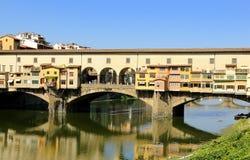 Brug in Florence, ITALIË royalty-vrije stock foto