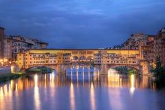 Brug in Florence, Italië Royalty-vrije Stock Foto's