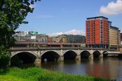 Brug in Glasgow, Schotland Stock Foto's
