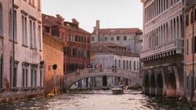 Brug in Grand Canal, Venetië Stock Afbeeldingen