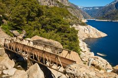 Brug in Hetch Hetchy Stock Fotografie