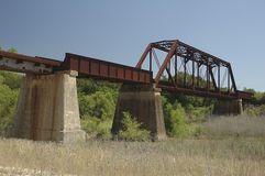 Brug II van de Spoorweg van Cibolo Royalty-vrije Stock Fotografie