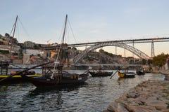 Brug Luis I, Porto, Portugal Stock Afbeeldingen