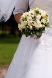 Brug met haar bloemen Royalty-vrije Stock Foto's