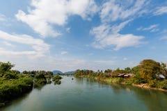 Brug op Don Khon Laos Stock Afbeelding