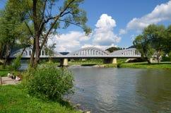 Brug op Dunajec Royalty-vrije Stock Foto's