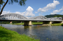 Brug op Dunajec Stock Afbeeldingen