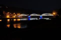 Brug op Dunajec Stock Foto