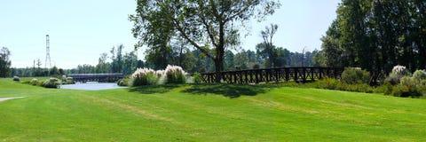 Brug op golfcursus Royalty-vrije Stock Foto