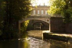 Brug op het kanaal van Avon dichtbij Bad Royalty-vrije Stock Foto's