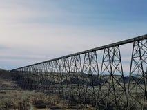 Brug op hoog niveau Lethbridge, Alberta Royalty-vrije Stock Foto's