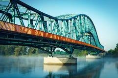 Brug op rivier Royalty-vrije Stock Afbeelding