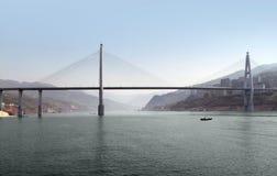 Brug op Yangtze-Rivier stock fotografie