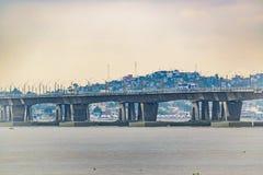 Brug over Babahayo-Rivier, Guayaquil, Ecuador royalty-vrije stock afbeeldingen