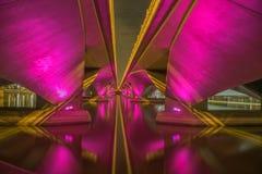 Brug over de Promenade van de Rivier van Singapore @ Stock Afbeelding