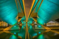 Brug over de Promenade van de Rivier van Singapore @ Royalty-vrije Stock Afbeeldingen
