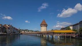 Brug over de Reuss-rivier Royalty-vrije Stock Foto