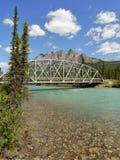 Brug over de rivier Royalty-vrije Stock Afbeelding