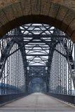 Brug over de rivier Elbe Royalty-vrije Stock Afbeeldingen
