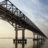 De Rivier van Irrawaddy - Myanmar Stock Afbeeldingen