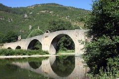 Brug over de rivier van de Tarn Stock Foto