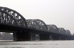 Brug over de rivier, Vivekananda Setu Stock Foto