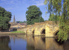Brug over de Riviery in Bakewell Derbyshire Royalty-vrije Stock Afbeelding