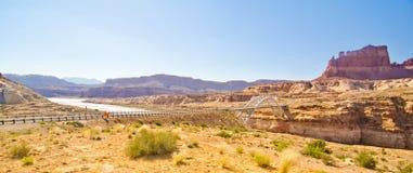 Brug over de Vuile Duivelsrivier, Glen Canyon, UT Royalty-vrije Stock Afbeelding