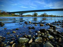 Brug over Donau stock afbeelding