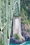 Brug over rivier Royalty-vrije Stock Foto's