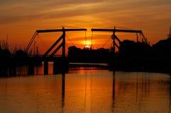 Brug over rivier Ryck dichtbij Greifswald Royalty-vrije Stock Foto