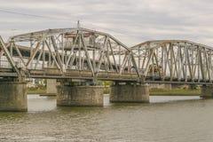 Brug over Santa Lucia River in Montevideo Uruguay stock afbeeldingen