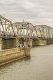 Brug over Santa Lucia River in Montevideo Uruguay royalty-vrije stock fotografie