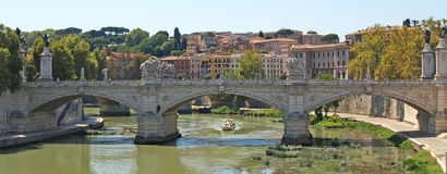 Brug over Tiber stock foto's