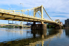 Brug in Pittsburgh, Pennsylvania Stock Afbeeldingen