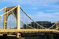 Brug in Pittsburgh, Pennsylvania stock foto