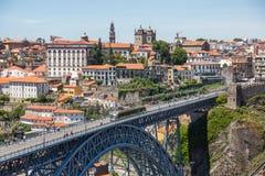 Brug Ponte LuÃs I in Porto royalty-vrije stock foto's