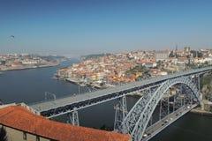 Brug in Porto stad Stock Afbeeldingen