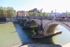 Brug in Rome, Italië Royalty-vrije Stock Afbeeldingen
