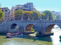 Brug, Rome, Italië Royalty-vrije Stock Afbeelding